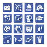 16 Education Signs. For web site design and mobile apps Stock Images