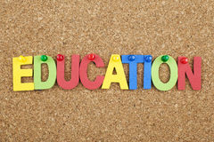 Education Single Letters Background Concept Royalty Free Stock Photos