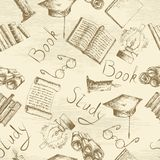 Education sketch background Royalty Free Stock Image