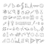 Education Sketch Icons Collection Royalty Free Stock Photos