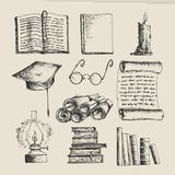 Education sketch icons Royalty Free Stock Photo
