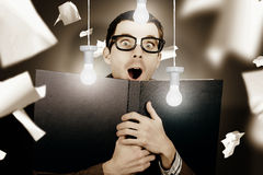 Education smart man learning bright idea Stock Images