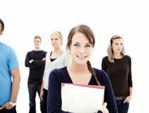 Education - Smiling female student Royalty Free Stock Images