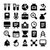 Education Solid Icons 2 Royalty Free Stock Photo
