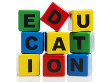 Education spelled with alphabet blocks Stock Photos