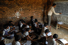 Education Status in India Royalty Free Stock Photo