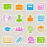 Education sticker icons set. Stock Photo