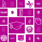 Education sticker infographic Royalty Free Stock Photo
