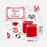 Education sticker infographic Royalty Free Stock Photography