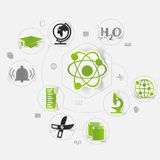 Education sticker infographic Stock Photography