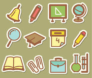 Education stickers royalty free illustration