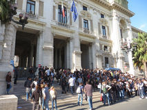 Education strike in Italy Stock Images