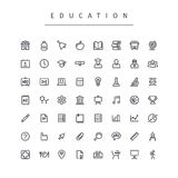Education Stroke Icons Set Royalty Free Stock Image