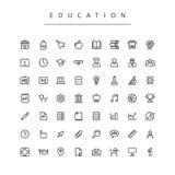 Education Stroke Icons Set Royalty Free Stock Image