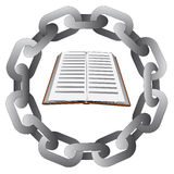 Education in strong steel circle chain  Stock Images