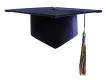 Education student cap isolated on white Royalty Free Stock Photo