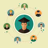 Education, student graduate Stock Image