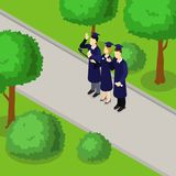 Education Student Isometric Composition Royalty Free Stock Images