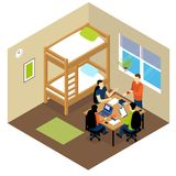 Education Student Isometric Composition Stock Photo