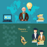 Education and students, online education, professor Royalty Free Stock Images