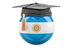 Education and study in Argentina concept, 3D rendering Royalty Free Stock Photos