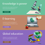 Education and study banners set Royalty Free Stock Photo