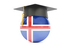 Education and study in Iceland concept, 3D rendering Royalty Free Stock Image