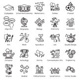 Education Study icons set Royalty Free Stock Photos