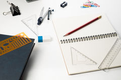 Education stuff no table. For learning Royalty Free Stock Images