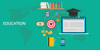 Education stuff and preparation. Vector flat illustration vector illustration