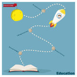 Education is superpower to success 2 Royalty Free Stock Images