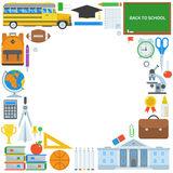 Education Supplies Background Royalty Free Stock Photography