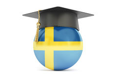 Education in Sweden, concept, 3D rendering Royalty Free Stock Image