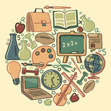 Education symbols Royalty Free Stock Images