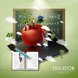 Education tablet concept Royalty Free Stock Photos