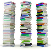 Education. Tall heaps of hardcovered books Royalty Free Stock Image