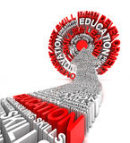 Education target, 3d render Stock Photo