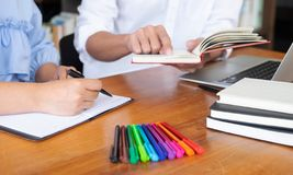 Education teaching guidance counseling advice. Education teaching guidanc counseling guidance making reports additional studies non-formal education self-study stock images