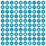 100 education technology icons sapphirine violet. 100 education technology icons set in sapphirine hexagon isolated vector illustration vector illustration