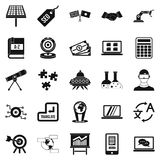 Education technology icons set, simple style. Education technology icons set. Simple set of 25 education technology vector icons for web isolated on white Royalty Free Stock Photos