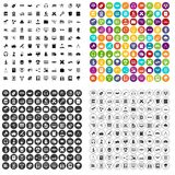 100 education technology icons set vector variant. 100 education technology icons set vector in 4 variant for any web design isolated on white Stock Photos