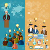 Education technology online education teacher professor banners Royalty Free Stock Photos