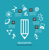 Education template Royalty Free Stock Image