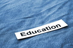 Education text Stock Photo