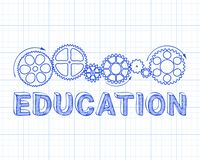 Education Graph Paper stock illustration
