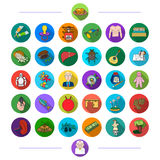 Education, textiles, music and other web icon in flat style. medicess, history, ine icons in set collection. Stock Photo