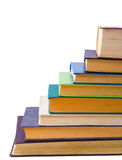 Education theme. Row of books Stock Photos