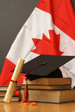 Education. An education theme for celebrating commencement Royalty Free Stock Photos