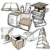 Education theme doodles Royalty Free Stock Images