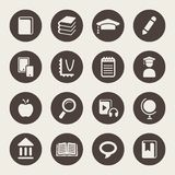 Education theme icon set.  royalty free stock photography